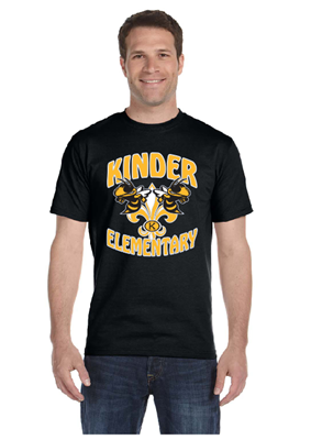 Picture of Kinder Elementary Black Short Sleeve T-Shirt