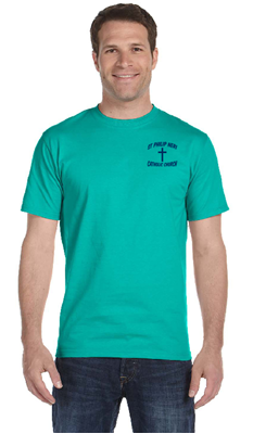 "Picture of St. Philip Neri ""God is Good Y'all"" Short Sleeve T-Shirt"