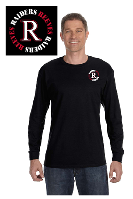 Picture of Reeves High School Black Long Sleeve T-Shirt (9th-12th)