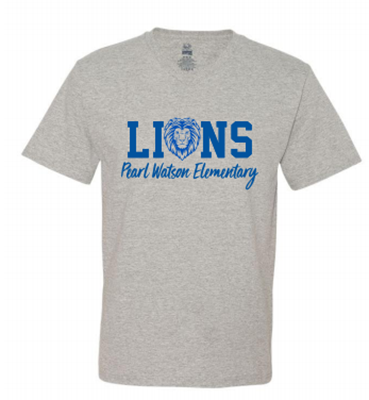 Picture of Pearl Watson Elementary Grey V-Neck (Adults ONLY)