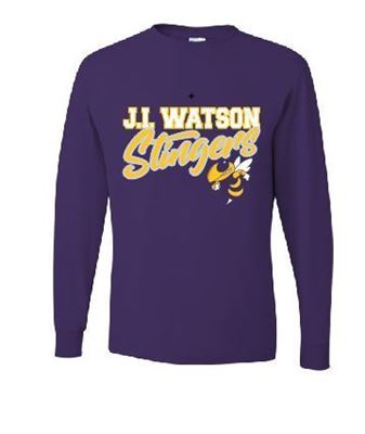 Picture of J.I. Watson Elementary MASCOT PURPLE Long Sleeve T-Shirt