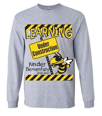 Picture of Kinder Elementary SPORT GREY CONSTRUCTION Long Sleeve T-Shirt