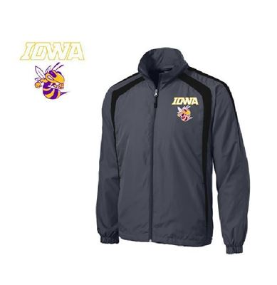 Picture of Iowa High School Grey Wind Jacket W/BEE