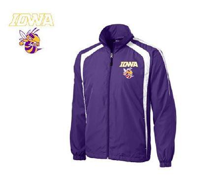 Picture of Iowa High School Purple Wind Jacket W/BEE